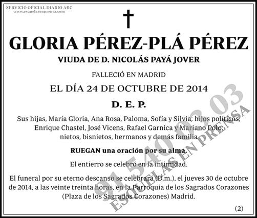 Gloria Pérez-Plá Pérez